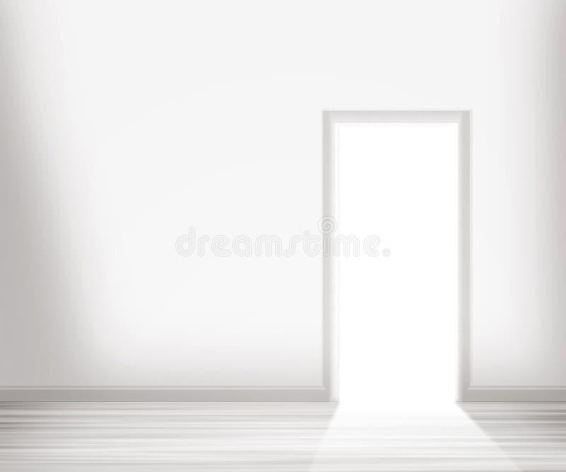 门户开放主义在空白墙壁 向量例证