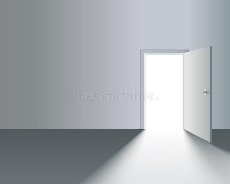 门户开放主义在墙壁 向量例证
