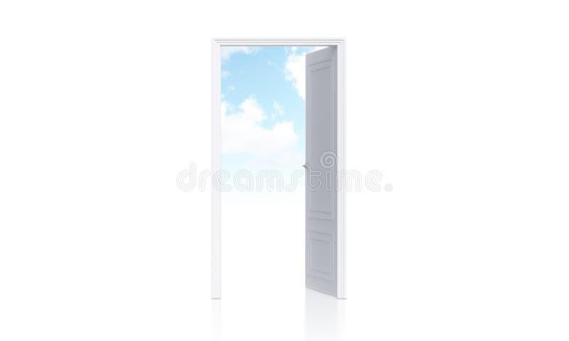 门户开放主义有天空视图 库存例证
