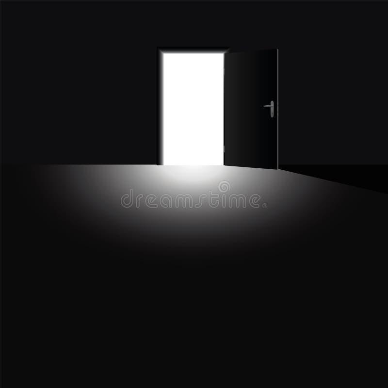 Download 门户开放主义的轻的逃命黑暗黑色 向量例证. 插画 包括有 情感, 例证, 心理学, 忧虑, 动物, 被砍的 - 62537070