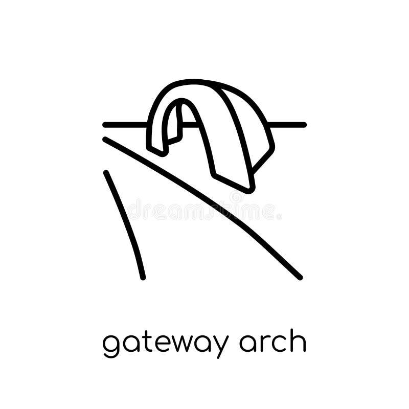 门户曲拱象 时髦现代平的线性传染媒介门户曲拱 库存例证