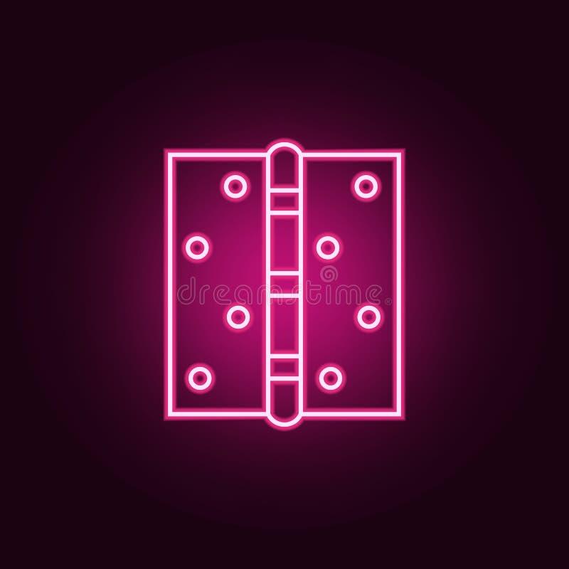 门折页霓虹象 网集合的元素 r 库存例证
