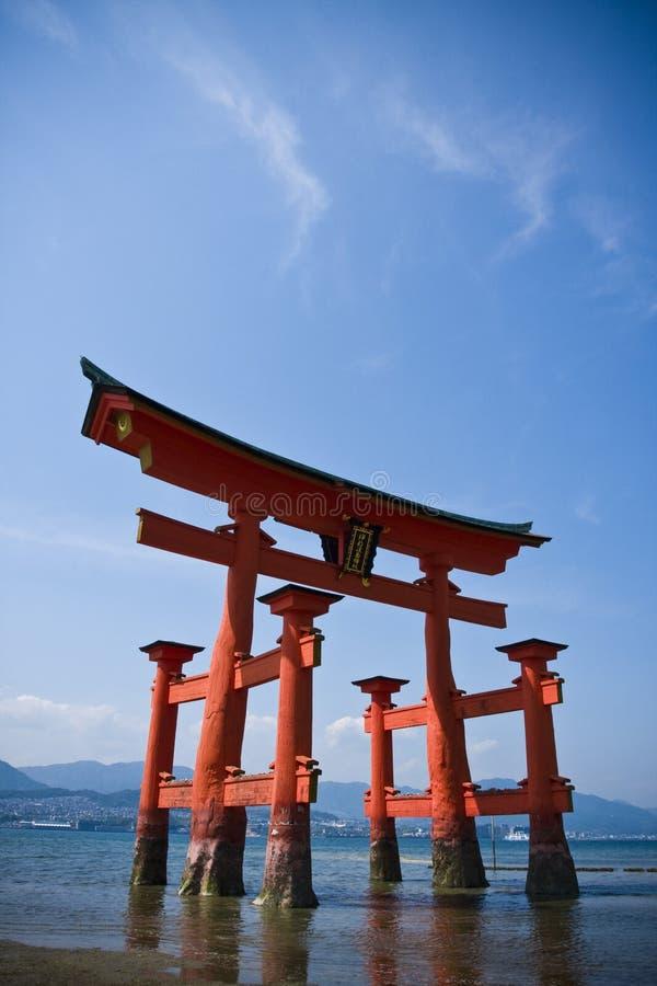 门日本torii 免版税库存图片
