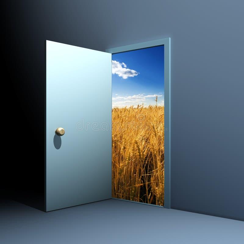 门本质 向量例证