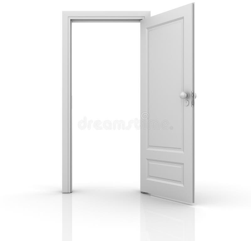 门查出的开放 库存例证