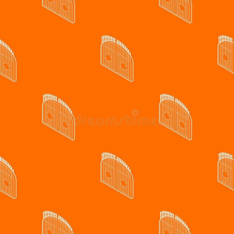 门样式传染媒介桔子 库存例证