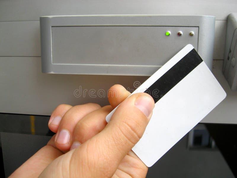 门电子锁定 免版税库存照片