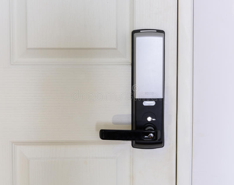 门电子锁定 免版税图库摄影