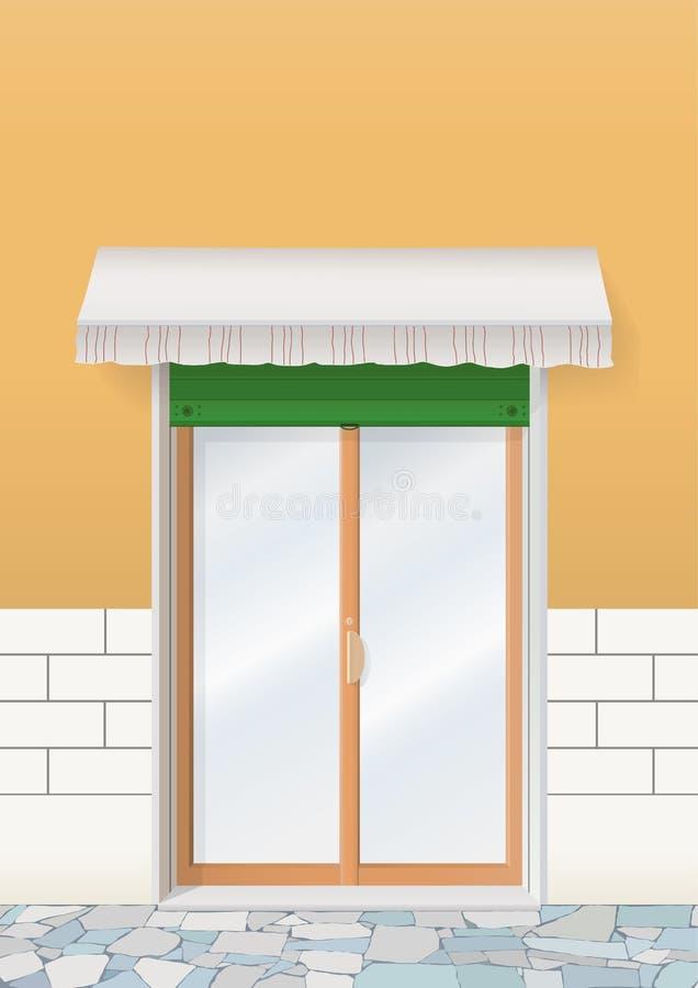 门界面 向量例证