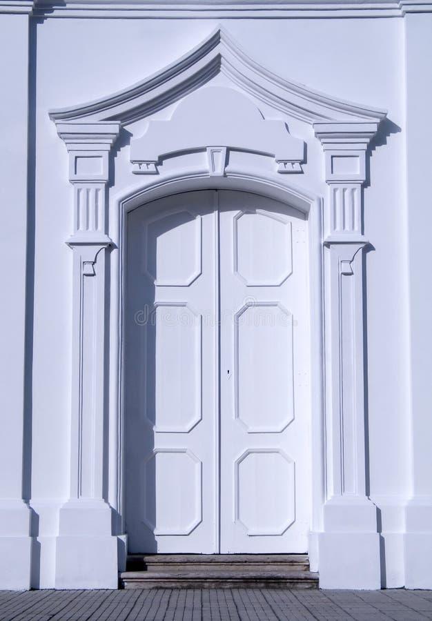 门白色 图库摄影