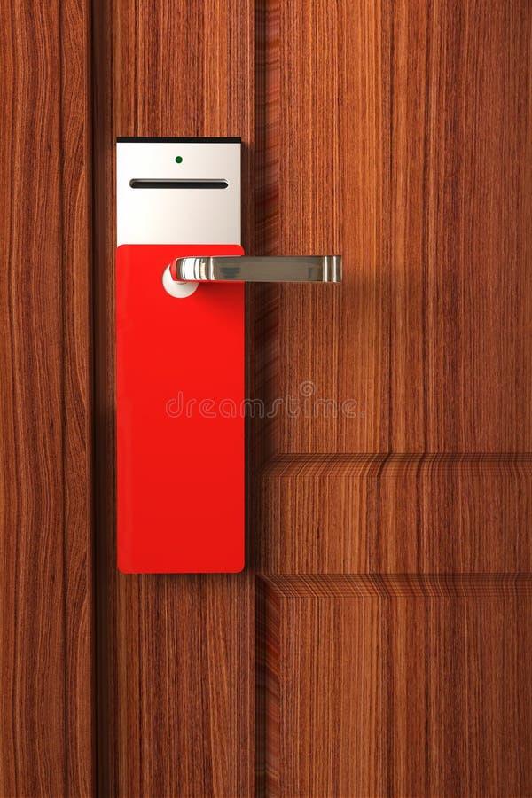 门空的把柄红色标签 皇族释放例证