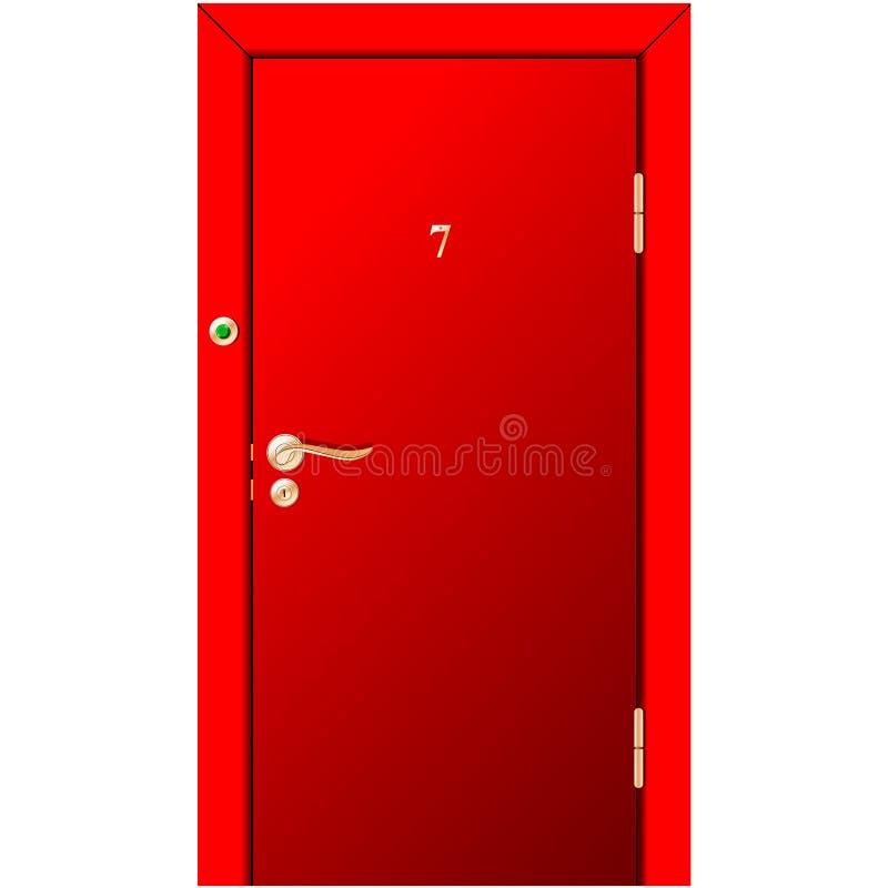 门红色 向量例证
