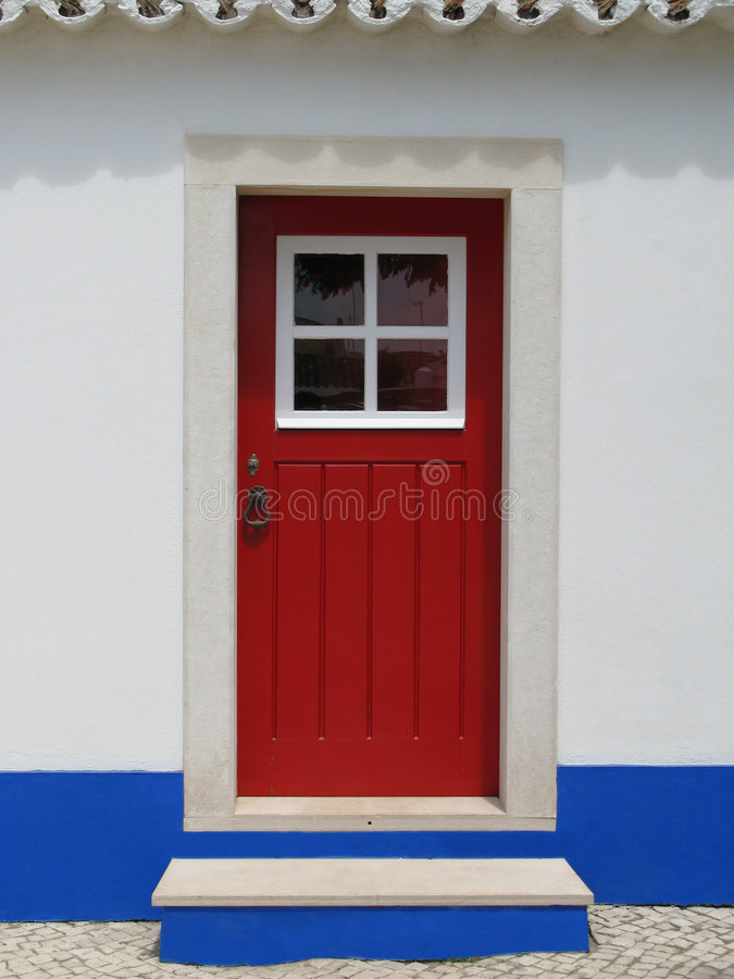 门红色 库存照片