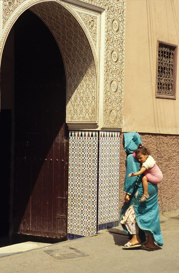 门老摩洛哥 库存照片