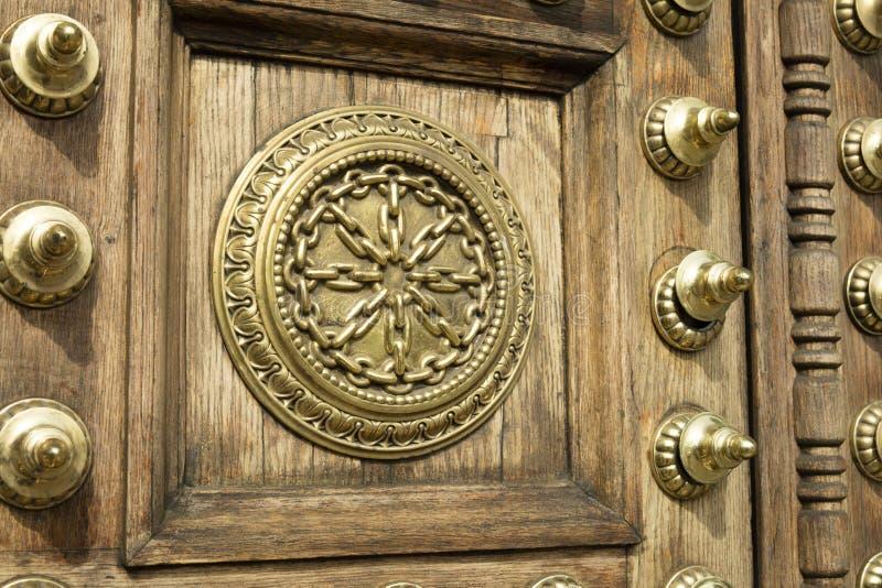 门装饰品和细节的细节从Capitania基因 免版税库存照片
