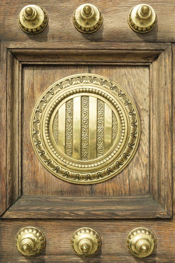 门装饰品和细节的细节从Capitania基因 免版税库存图片