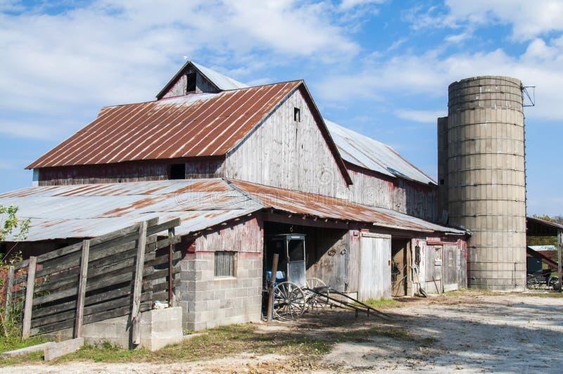 门诺派中的严紧派的谷仓 库存照片