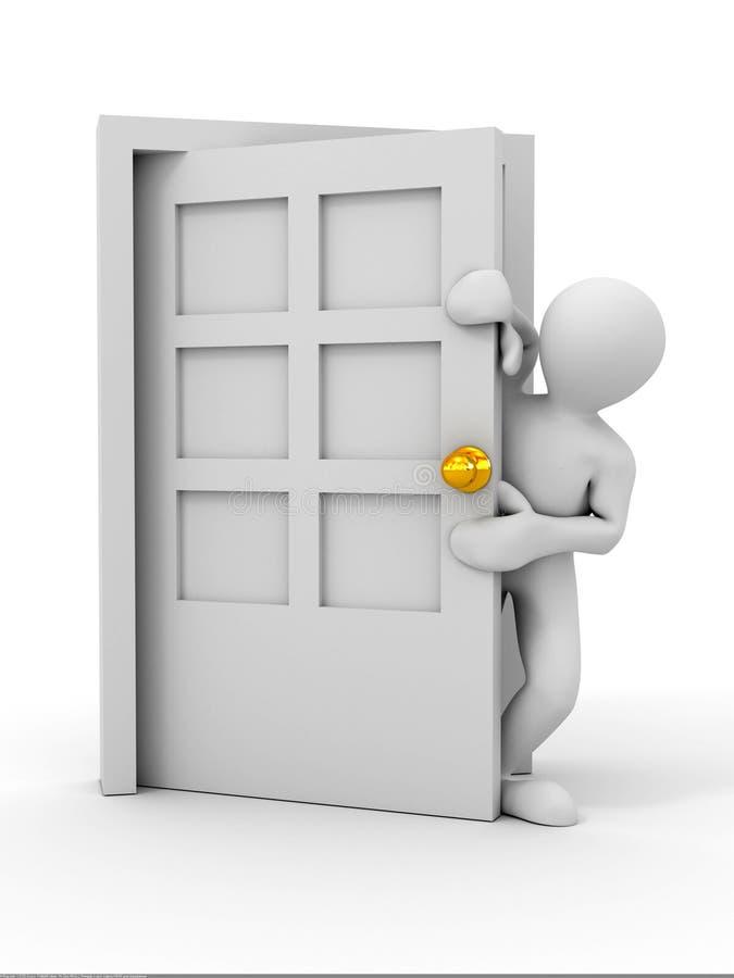 门进入的人员 库存例证