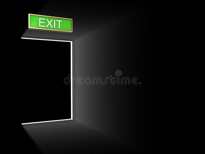 门退出 向量例证