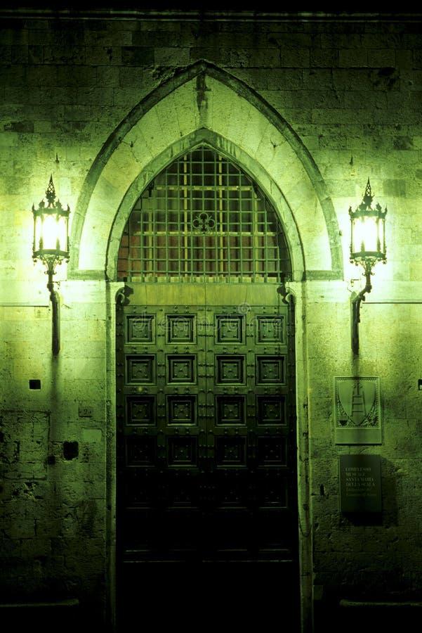 门道入口意大利siena 免版税库存图片