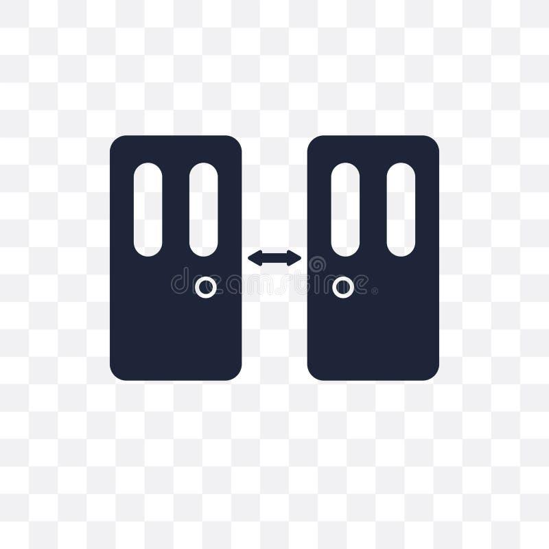 门道入口透明象 门道入口从戏院coll的标志设计 向量例证