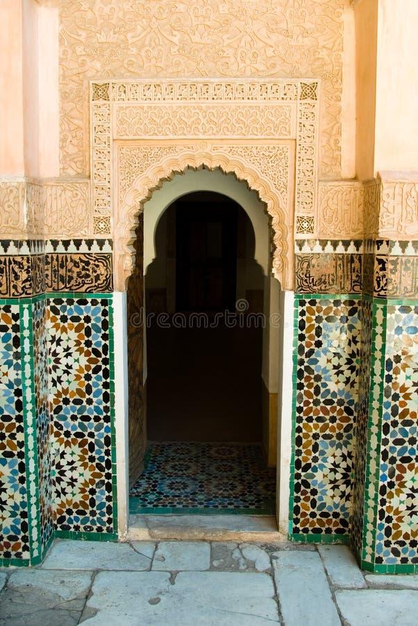 门道入口马拉喀什 免版税库存照片