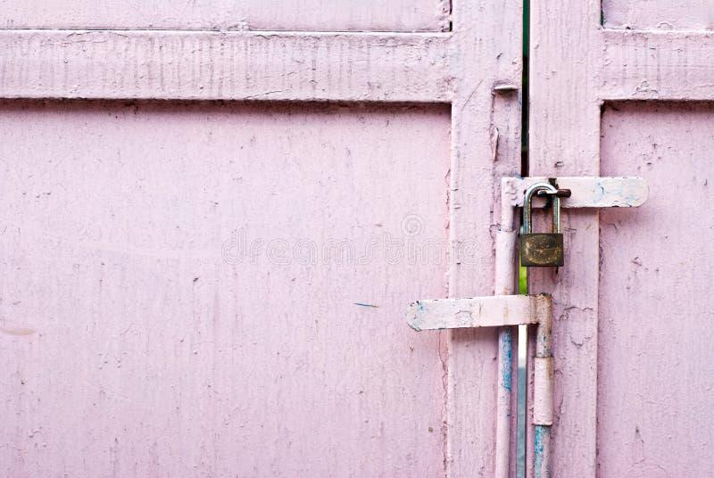 门金属粉红色 图库摄影