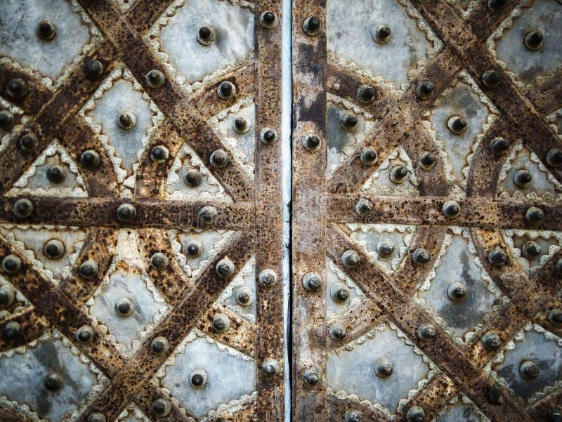 门金属装饰样式 免版税库存图片