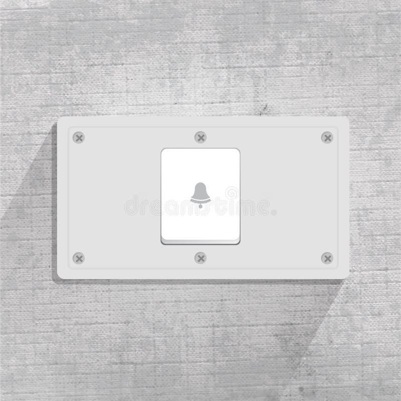 门铃在图形设计的灰色背景中 皇族释放例证