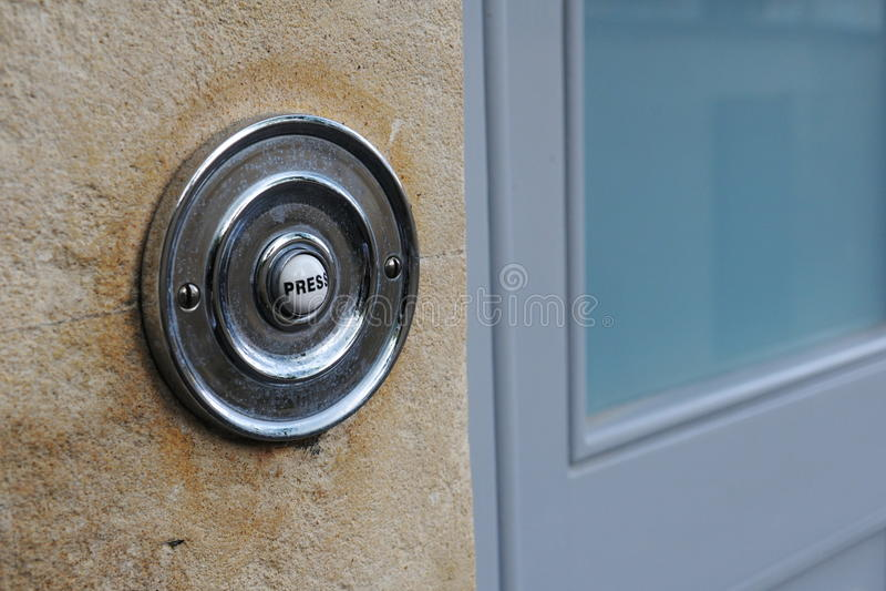 门铃按钮 免版税库存照片