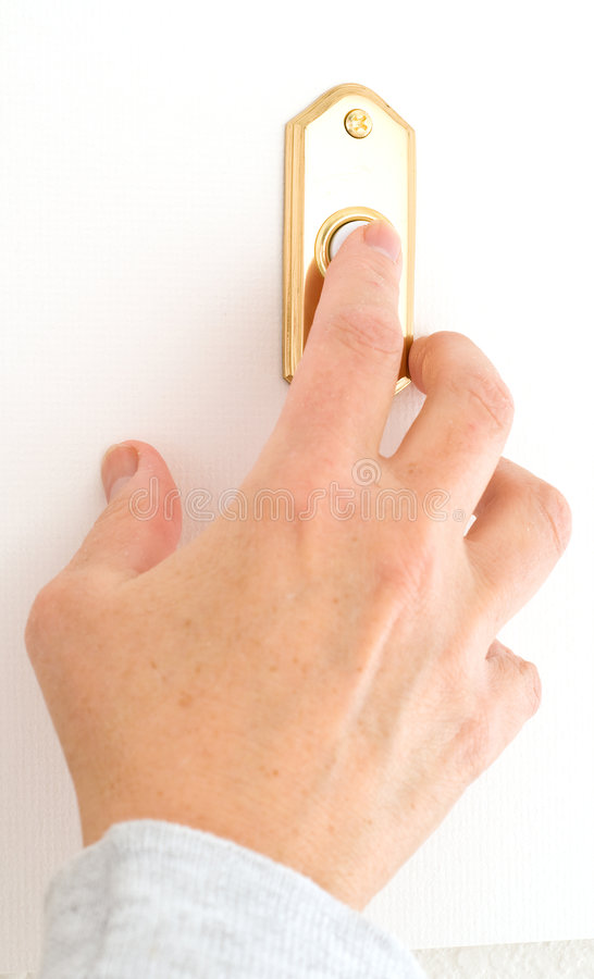 门铃敲响 库存照片