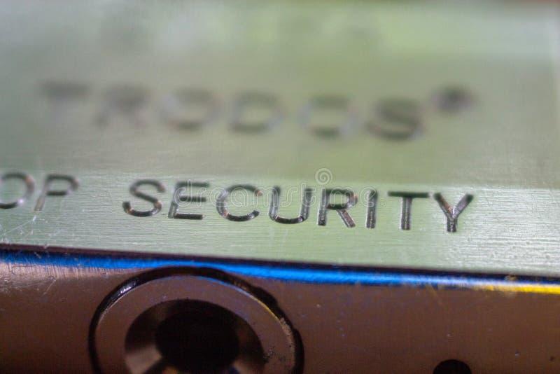 门锁关闭 免版税库存照片