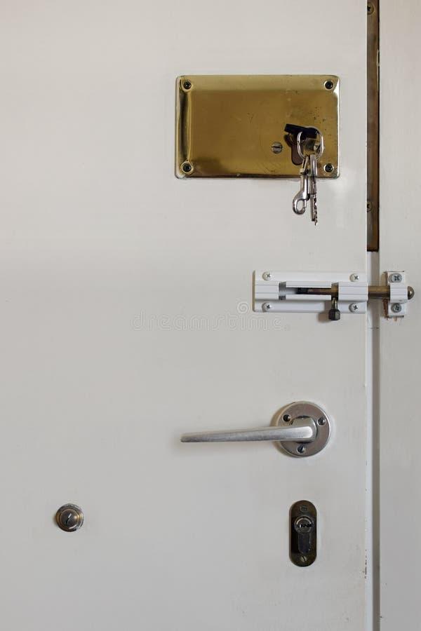 门锁定了 库存照片