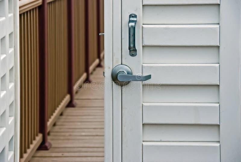 门锁定白色 库存图片