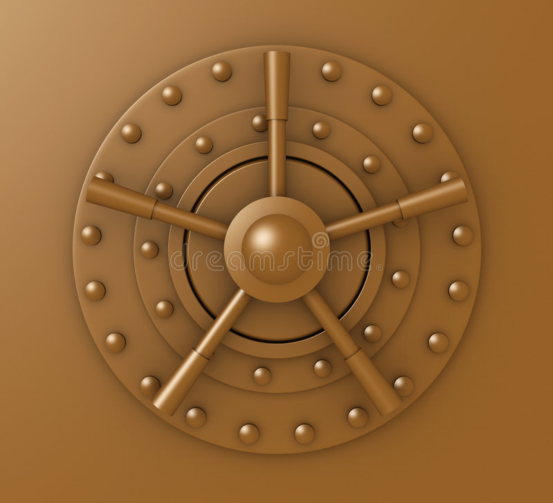 门锁生锈有圆顶 皇族释放例证