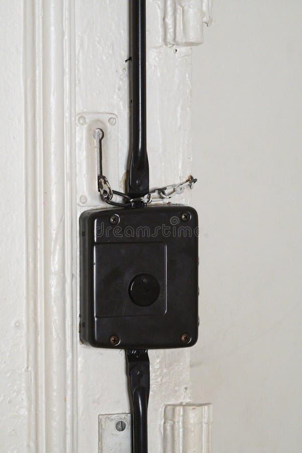 门锁链子 库存图片