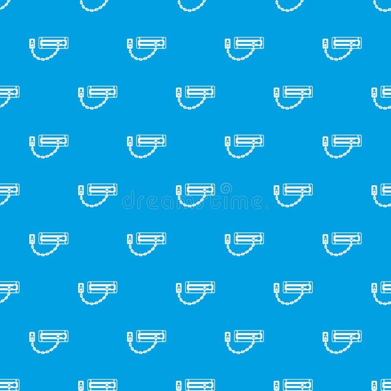 门闩样式传染媒介无缝的蓝色 库存例证