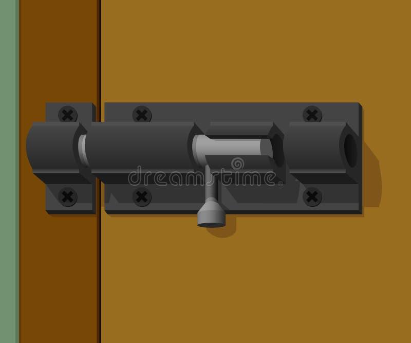 门闩门是锁着的 库存例证