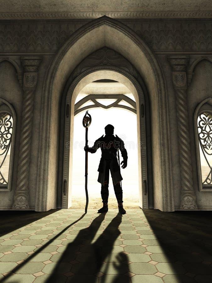 门限的黑暗的阁下 库存例证