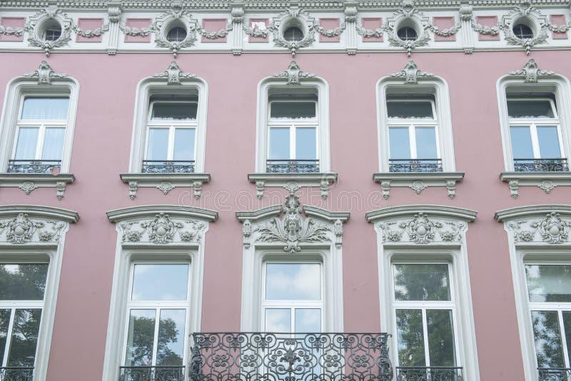 门面历史房子在杜塞尔多夫 库存图片