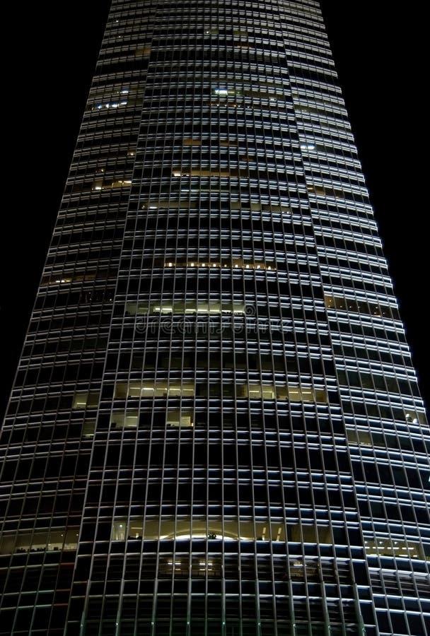 门面晚上摩天大楼 免版税库存图片