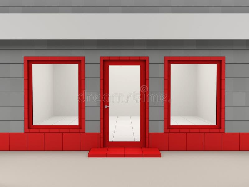 门面界面 库存例证