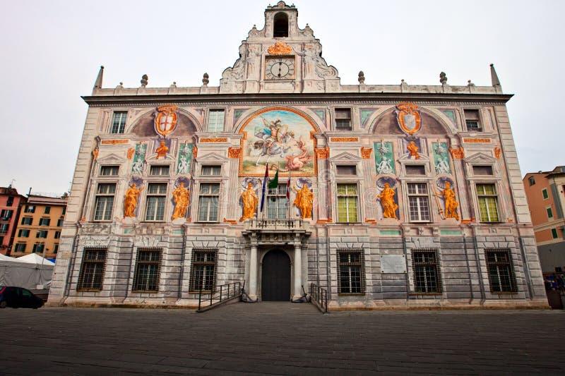 门面绘了宫殿 免版税图库摄影