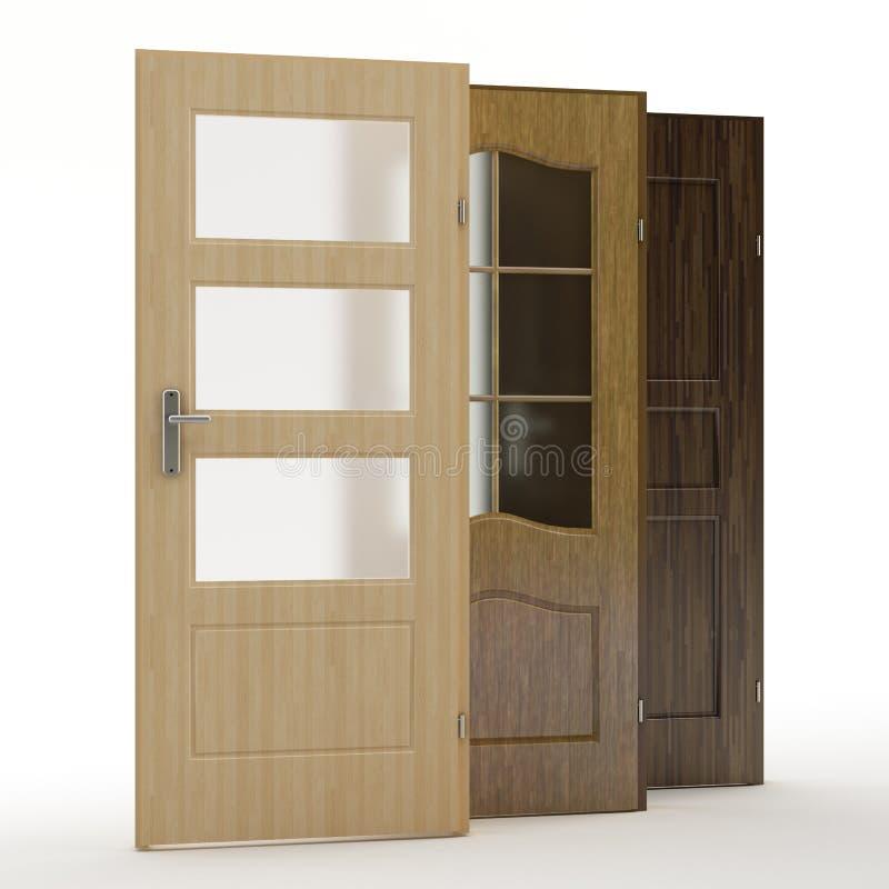 门,3D例证 免版税库存照片