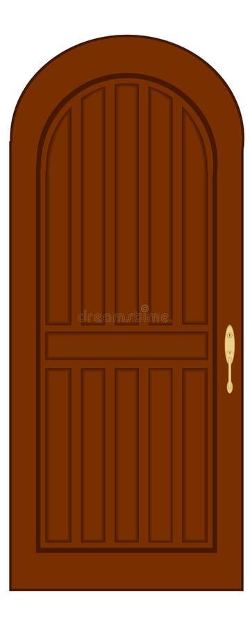 门 向量例证