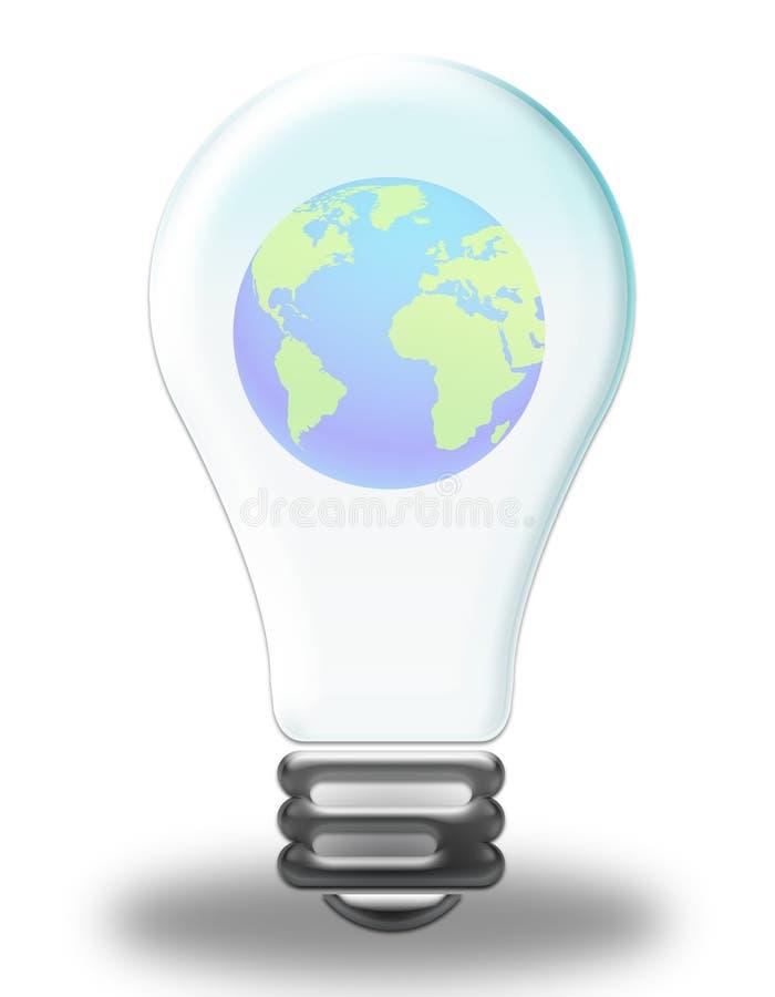 闪亮指示世界 向量例证