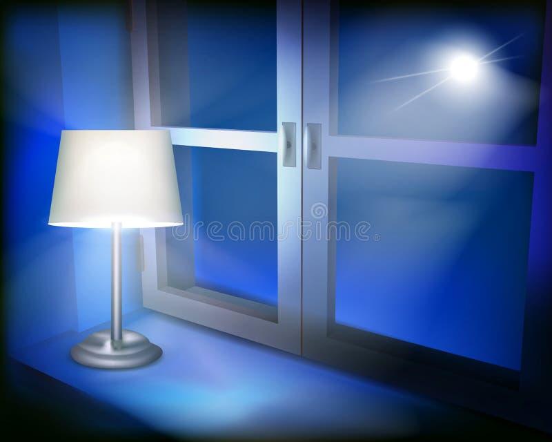 闪亮指示在视窗里 也corel凹道例证向量 向量例证