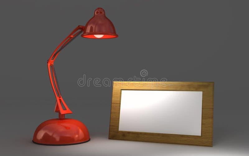 闪亮指示红色 库存例证