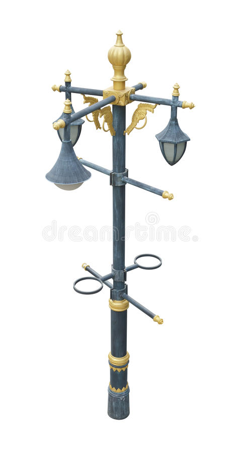 闪亮指示过帐街道路灯柱 库存图片