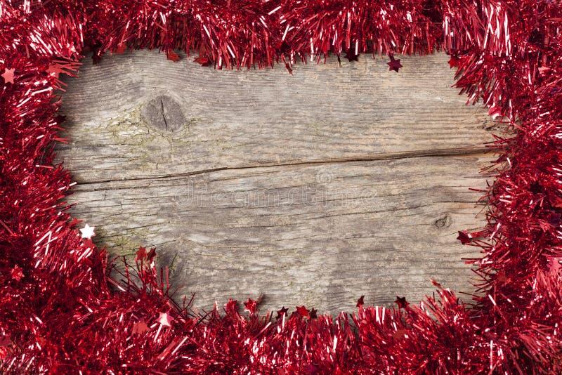 闪亮金属片圣诞节装饰 库存图片